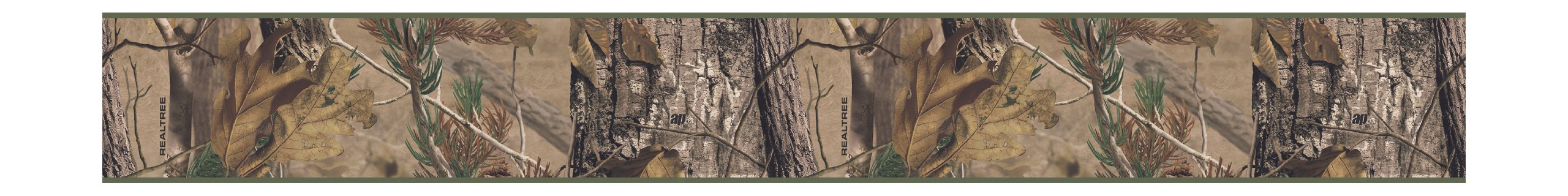 York Wallcoverings Lake Forest Lodge LM7937BD Camouflage Wallpaper Border - Ultra Removable