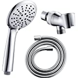 "SonTiy Handheld Shower Head with 60"" Stretchable Hose and Bracket High Pressure Showerhead Set Handshower Bathroom Accessories Chrome"