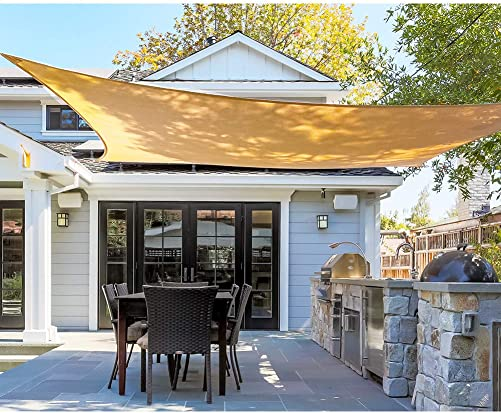 Coarbor Retractable Shade Replacement Pergola Shade Cover Awning 4 Wx16 L Beige Slide Wire Canopy Wave Shade Sail for Patio Deck Porch