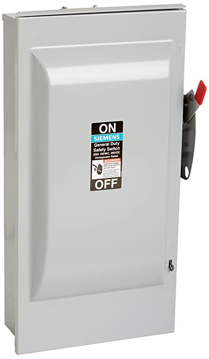 Siemens Gnf324r 200 Amp 3 Pole 240 Volt 3 Wire Non Fused