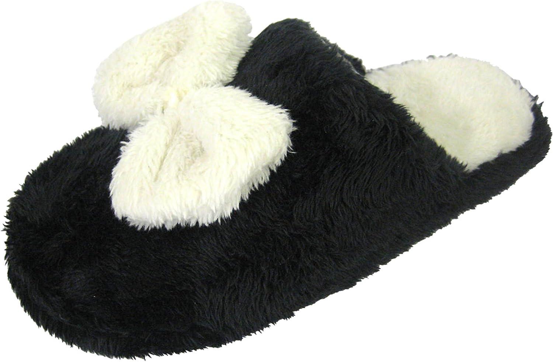womens faux fur mule slippers