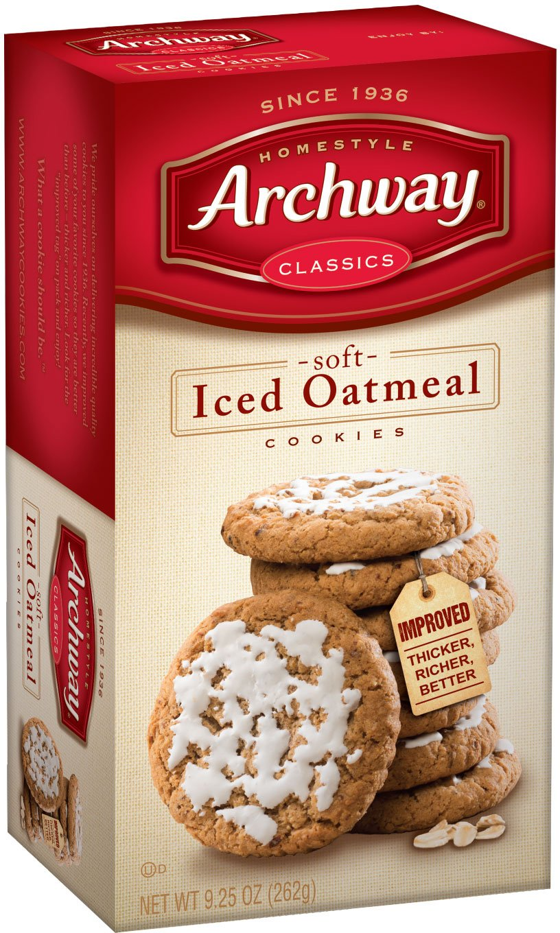 Archway Cookies, Soft Iced Oatmeal, 9.25 Ounce (Pack of 9)