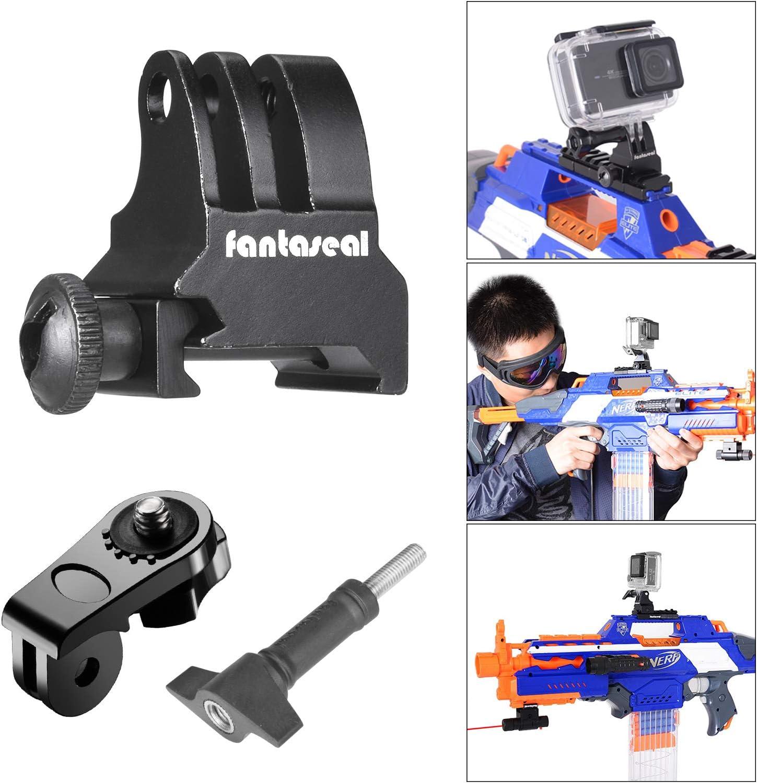 Picatinny Soporte para riel de pistola,adaptador de soporte para cámara de pistola de aire comprimido, pistola de rifle de aire, pistola de carbonina AR-15 M4 M16 para GoPro 7 6 5 4 3 3+ Sony etc