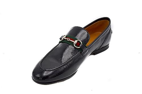 05068842472 Gucci Elanor Iconic Classic Black Horsebit Web Loafers Moccasins   Amazon.ca  Shoes   Handbags