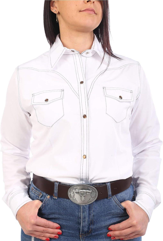 Last Rebels Country Line Dance - Camisa para Mujer, Color Blanco: Amazon.es: Ropa y accesorios