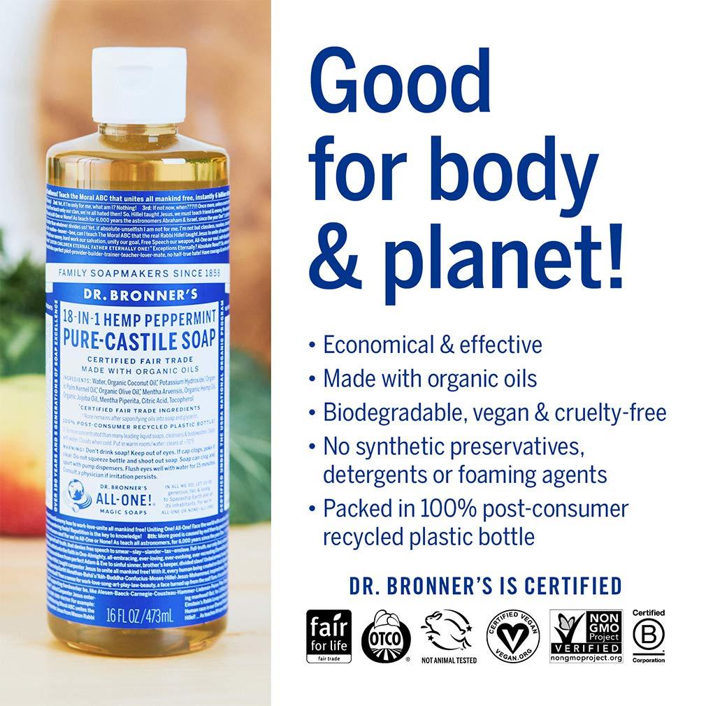 Dr  Bronner's - Pure-Castile Liquid Soap (Citrus, 16 ounce)