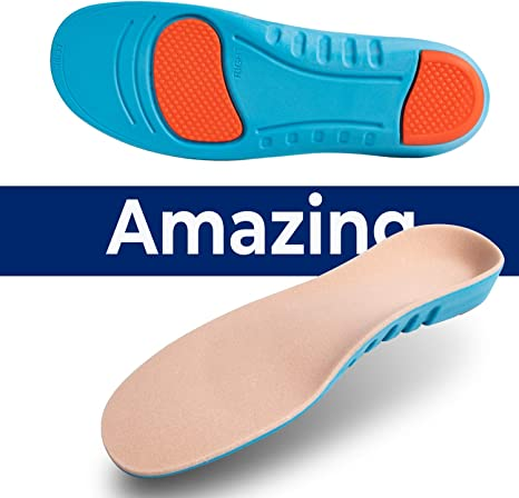 Breathable Shoe Insoles Comfortable Arch Support Cushions Relieve Flat Feet