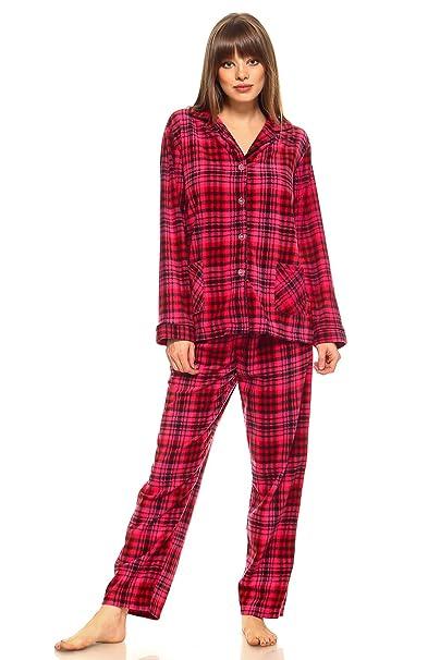 582a9aa67772 MarCielo Womens Fleece Pajamas
