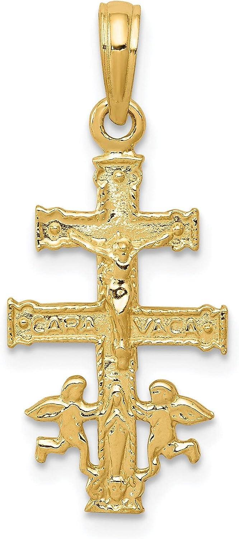 REAL 14K YELLOW GOLD CRUCIFIX CROSS PENDANT CHARM NECKLACE MEN WOMEN