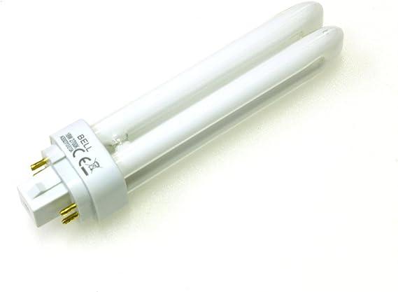 4x 10 watt Energy Saving Lamp CFL 4 pin 10W Cool White 840 G24q-1 Double turn BELL