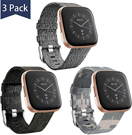 Breathable Soft... Maledan for Fitbit Versa Bands Women Men Small Large