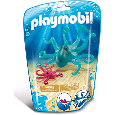 PLAYMOBIL Octopus with Baby Building Set: Toys & Games