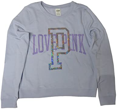 589bcc9cdf522 Victoria's Secret PINK Womens Sweatshirt Bling Purple Medium at ...