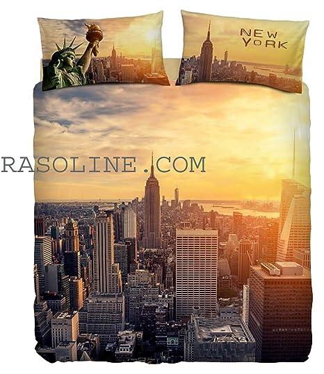 Bassetti Imagine Completo Letto Copripiumino 100/% Cotone Stampa Digitale Art Singolo 155x200 NY Frame