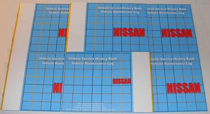 Nissan Blank Service Book Maintenance Guide All Models 9999901NWB