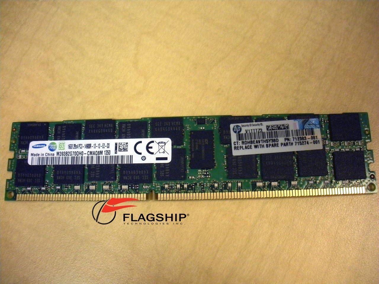 2Rx4 PC3-12800R RAM DDR3 Memory Module HMT42GR7BFR4C-PB 1x16GB Hynix 16GB