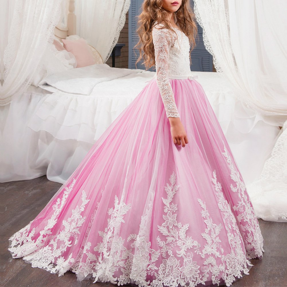 Vestido de Tul Princesa fiesta de Encaje Bowknot con Appliques ...