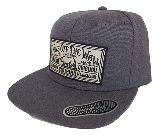 a6b59d1a3d1 Image Unavailable. Image not available for. Colour  Vans Off The Wall Men s  Stevedore Snapback Hat Cap - Charcoal