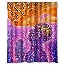 Flaun Alex Grey Art Painting Waterproof Custom Shower Curtain