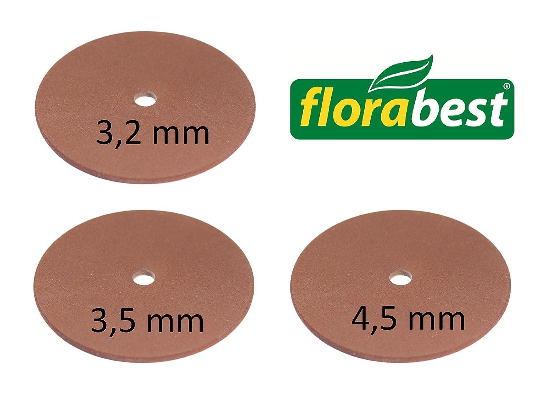 4,5 mm per Affila Catena Motosega Florabest Set Mole di Ricambio 3,2 3,5