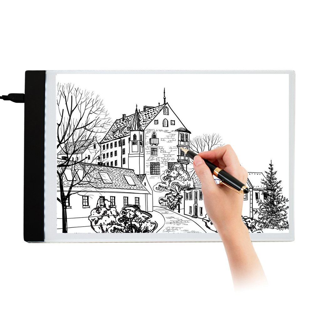 Tracing Light Box Drawing A4 LED Copy Board Painting Pad with USB Cable for Artists Drawing Animation Sketching Designing MeteorFlying