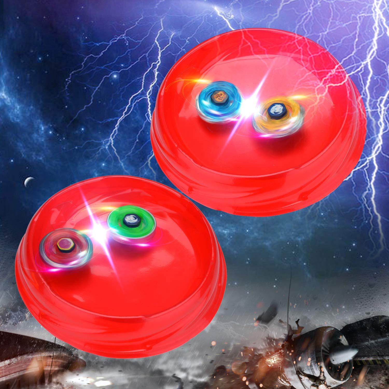 FORIZEN 4 Pcs Set de Spinning Top Gyro avec Launcher Gyro m/étal Combat Spinning Top Toupie Jouet et Cadeaux pour Enfants Adulte