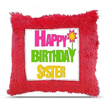 Buy TIA Creation Happy Birthday Sister Gift Pillow Cushion 16x16