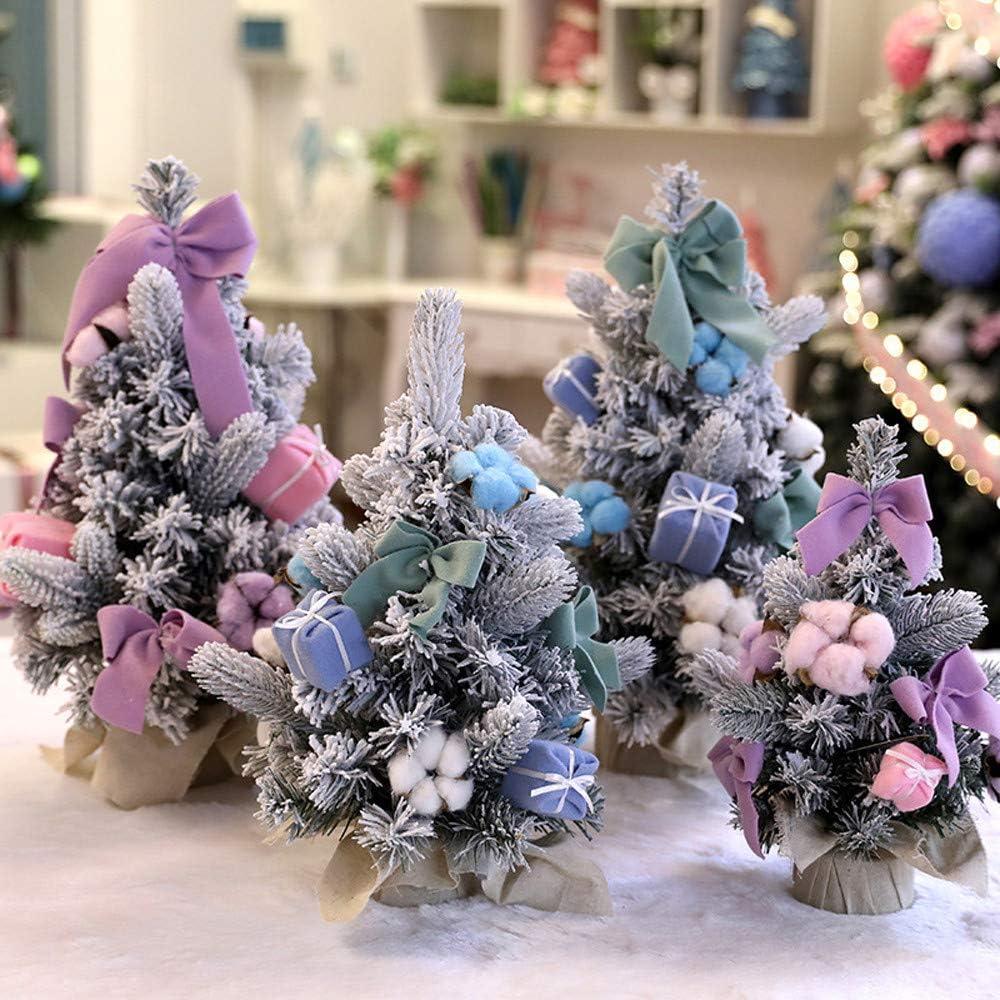 BHYDRY Bricolaje Mini árbol de Navidad Pequeño Pino Árbol de ...