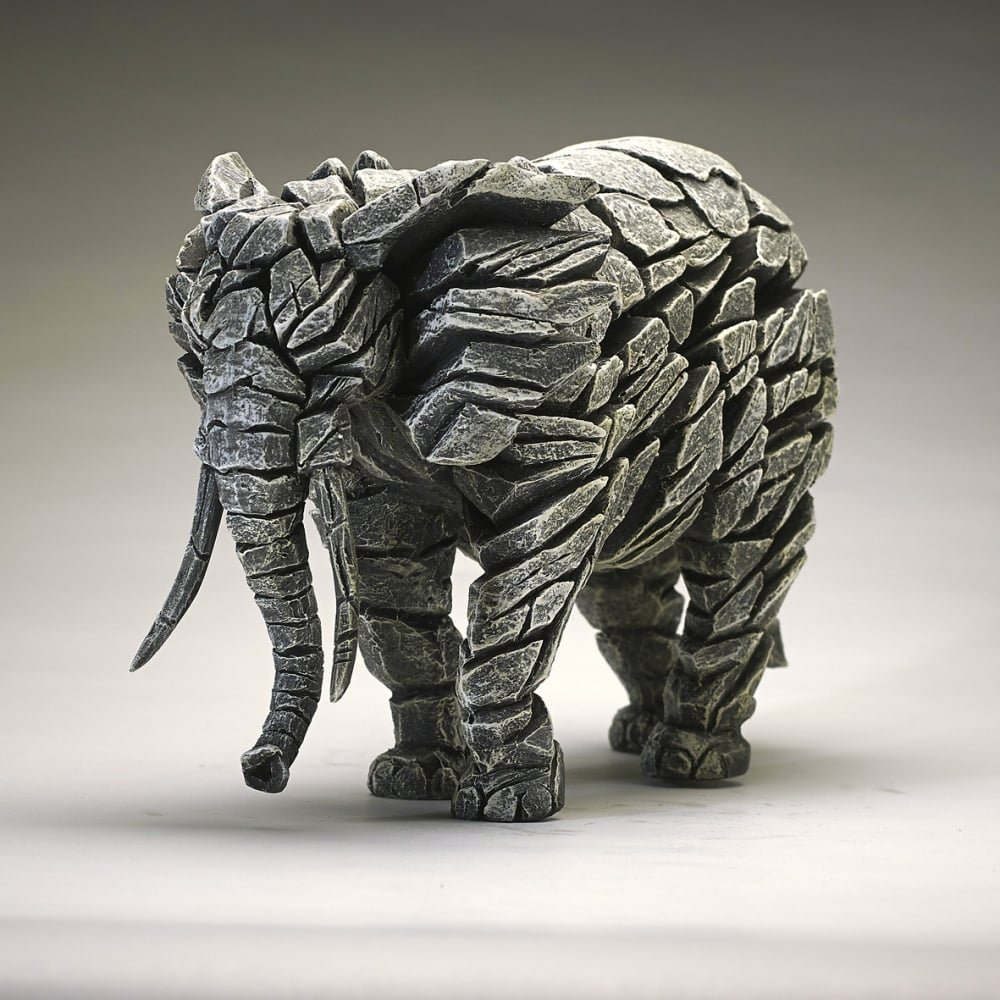 Elephant - White by Edge Sculpture by Edge Sculpture Robert Harrop