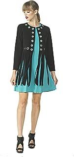 product image for Eva Varro Women's Grommet Fringe Jacket