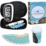 KETO-MOJO Blood Ketone and Glucose Testing Meter Kit, 10 Ketone Strips, Lancing Device, 10 Precision Lancets. Monitor Your Ketogenic Low Carb Diet For Nutritional Ketosis. Glucose Strips NOT Included