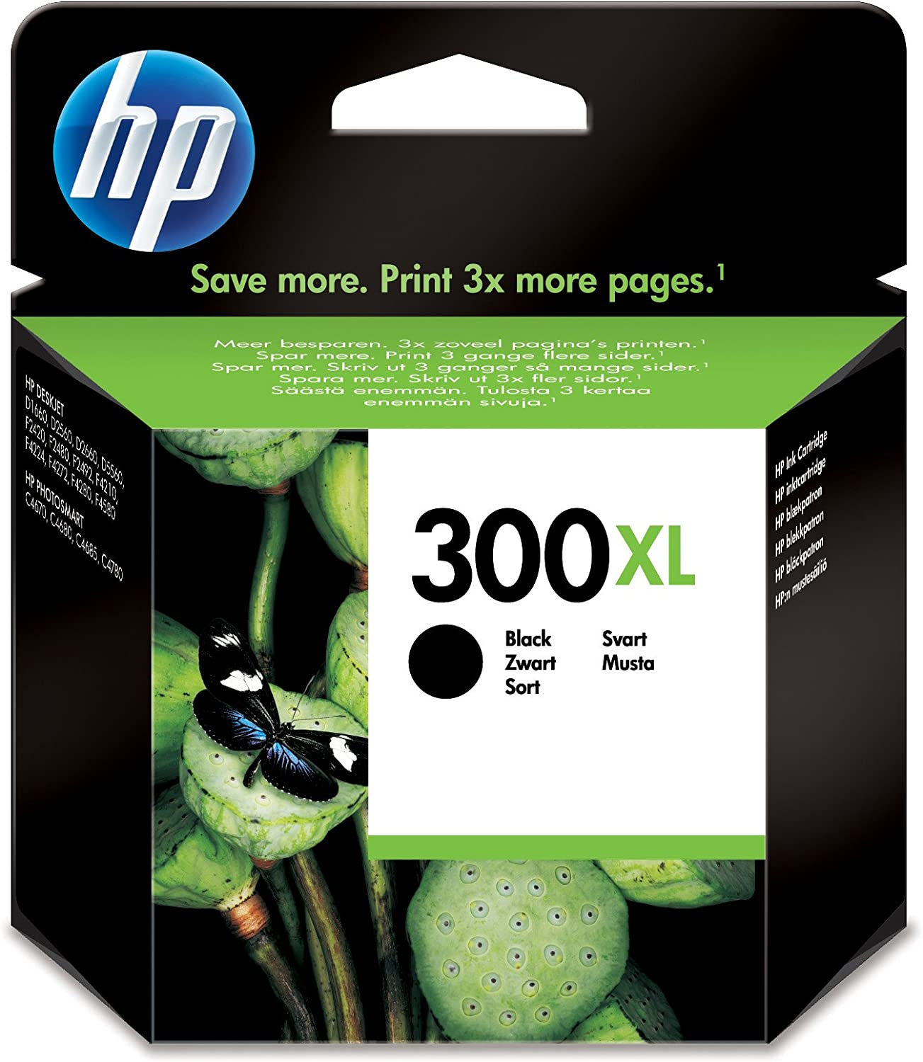 Hp 300Xl Black Ink Cartridge Negro Cartucho de Tinta - Cartucho de Tinta Para Impresoras (Negro, Hp Deskjet D2500, Hp Deskjet D2530, Hp Deskjet F4200, High (Xl) Yield, Negro, 20 - 80%, -