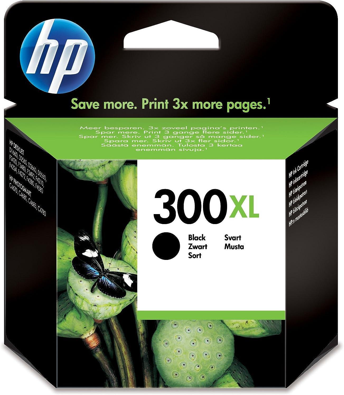 Hp 300Xl Black Ink Cartridge Negro Cartucho de Tinta - Cartucho de Tinta Para Impresoras (Negro, Hp Deskjet D2500, Hp Deskjet D2530, Hp Deskjet F4200, High (Xl) Yield, Negro, 20 - 80%, -