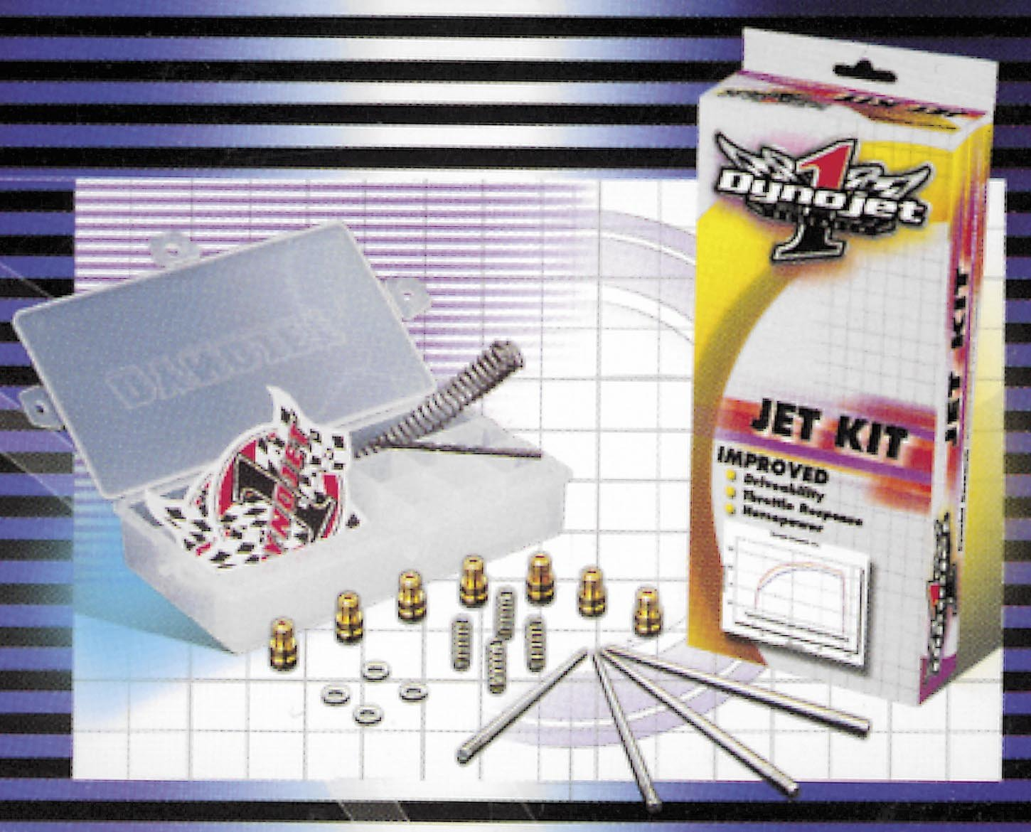 Stage One And Three Jet Kit For Honda CB750C Custom/CB750F Super Sport/CB900C Custom 1980-1982 / CB900F Super Sport 1981-1982 - Dynojet Research (Jet Kits) 1127 by Dynojet