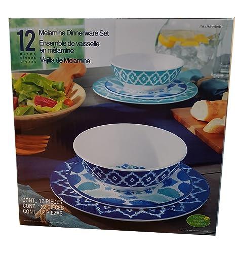 Vajilla de melamina (12 piezas): Amazon.es: Hogar