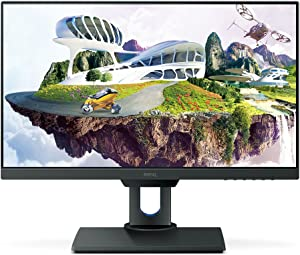 BenQ PD2500Q 25 inch QHD 1440p IPS Monitor | 100% sRGB |AQCOLOR Technology for Accurate Reproduction for Professionals, Black, 25-inch (WQHD, Factory-calibrated)