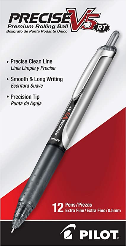 Red Ink New Extra Fine Point Refillable /& Retractable Rolling Ball Gel Pens 12 Count