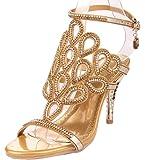 Littleboutique Gorgeous Crystal Sandals Phoenix Cutout Rhinestone Studs Evening Sandal Party Dress Sandal Heel