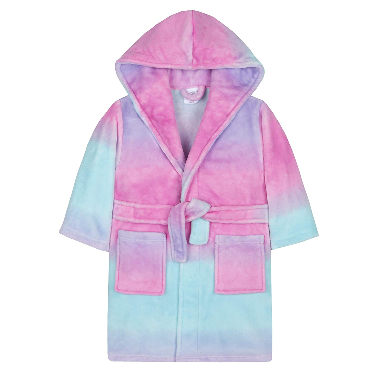 4Kidz Girls Sherbet Ombre Plush Fleece Dressing Gown