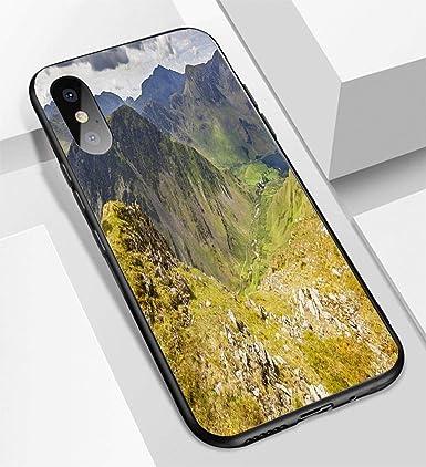 Amazon.com: Carcasa para iPhone X/XS de cristal ultrafino ...