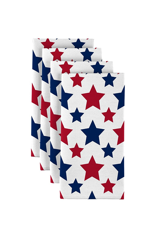 American Starsレッド&ブルーMilliken署名Dinner Napkins – 12のセット   B06XH1RGZY