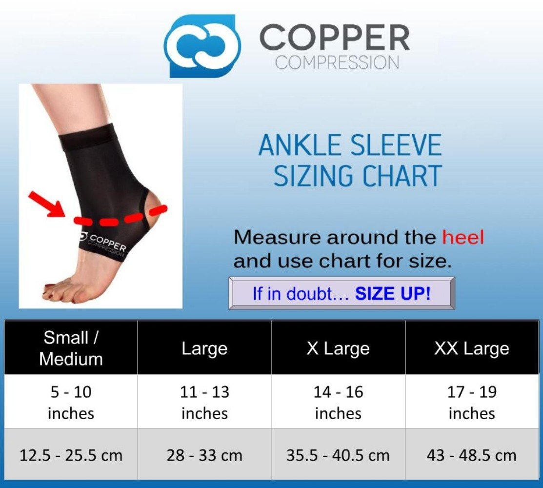 Copper Compression Recovery Ankle Sleeve - GUARANTEED Highest Copper Content #1 Infused Fit Ankle Brace/Wrap/Sock/Stabilizer For Men And Women. Wear To Support Stiff And Sore Muscles And Joints by Copper Compression (Image #2)