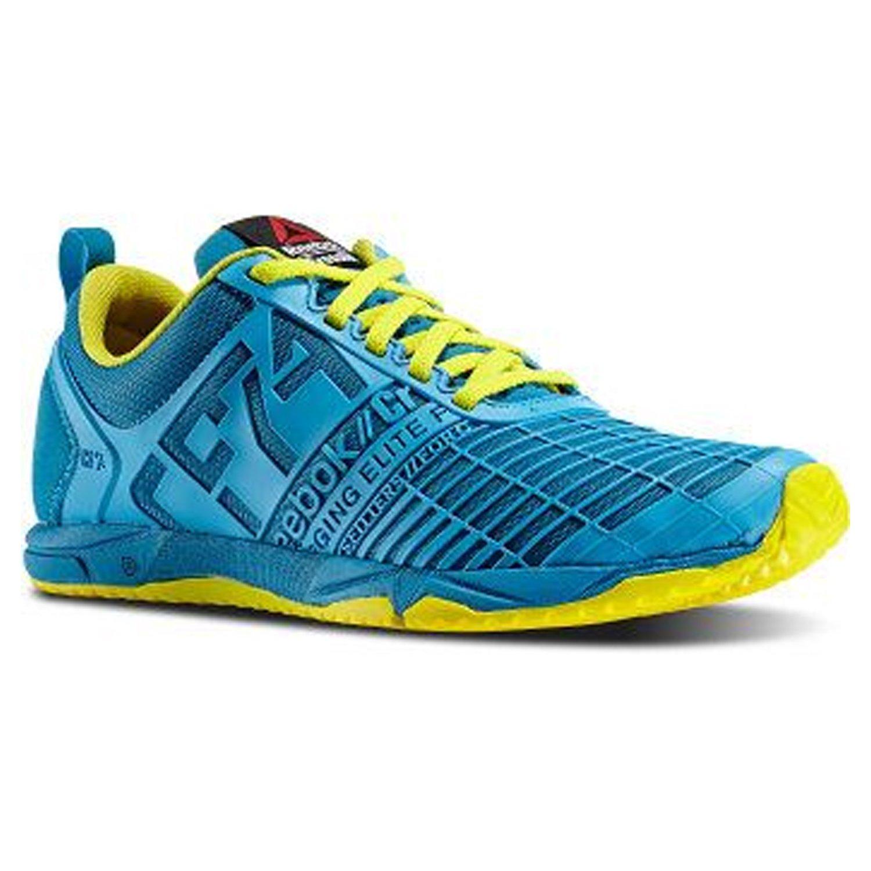 V60009 Reebok U3 Womens Crossfit Sprint Blue Bomb//Yel X-Trainer Shoes