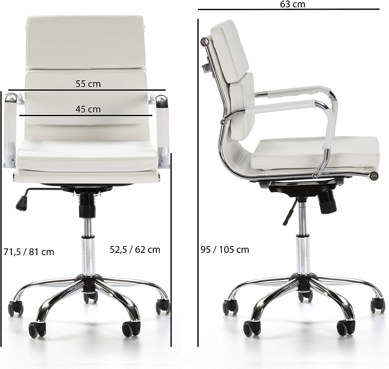 Silla ejecutiva con conj/ín engrosados Dise/ño ergon/ómico VS Venta-stock Sill/ón de Oficina Fenix reclinable Blanco Piel sint/ética Altura Ajustable
