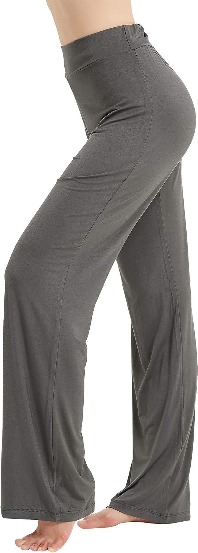 CGTL Womens Bootleg Yoga Pants High Waist Non See-Through Tummy Control Boot-Cut Slacks Workout Casual Flared Pant
