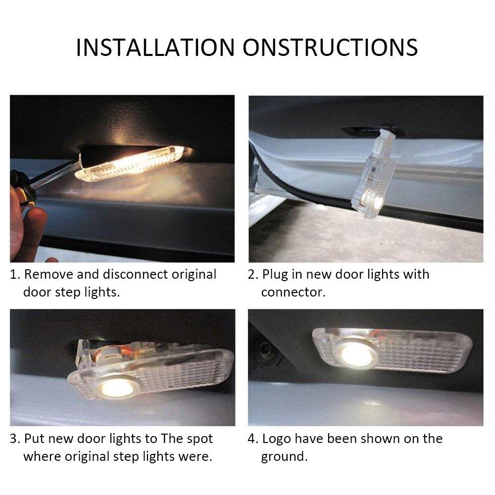 Car Door Light Logo Projector Lighting 4 Pcs LED Car Ghost Shadow Welcome Lights East Installtion for BMW M 3 5 6 7 X Z GT Mini Series