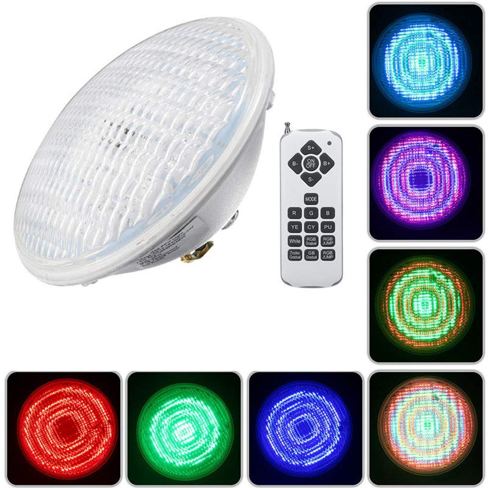 BASDW 30W Par56 RGB LED subacu/ático impermeable piscina luz IP68 Control remoto Atmostphere luz BASDW