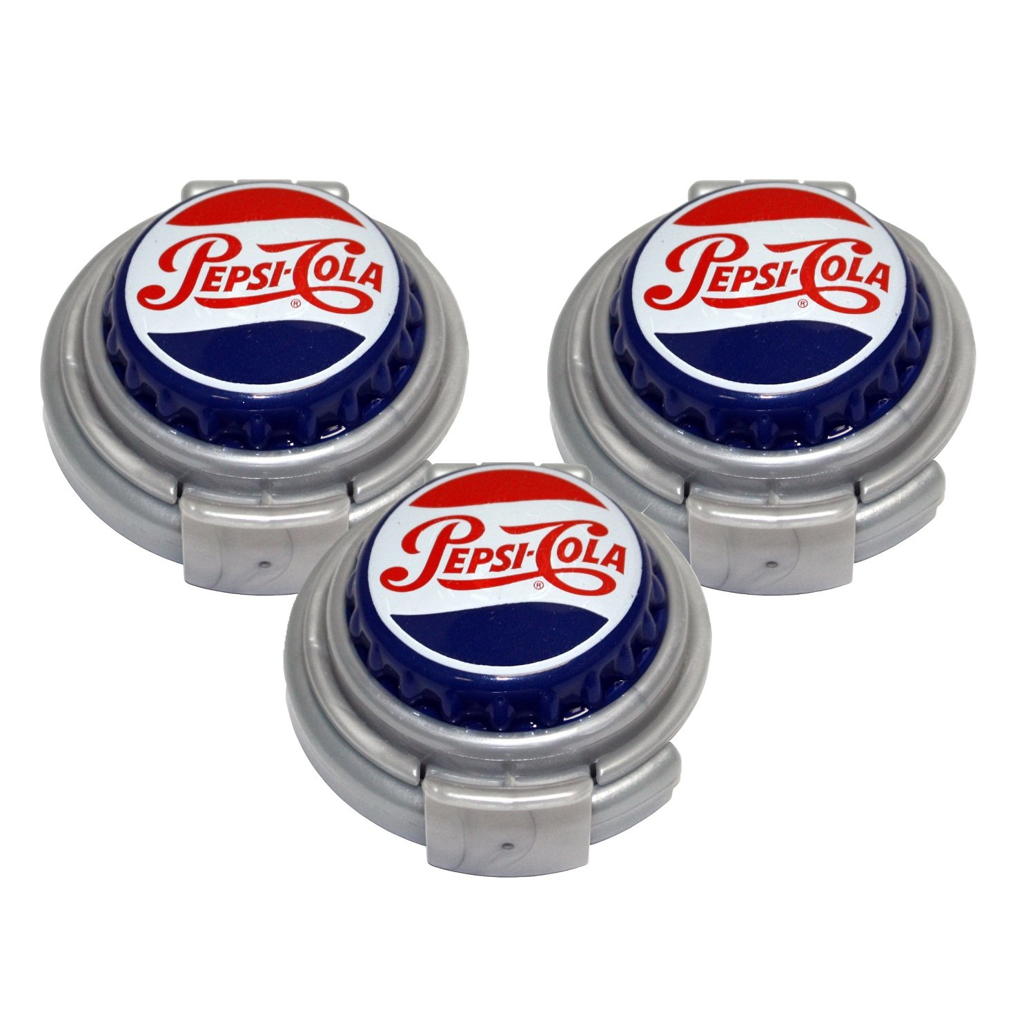 Jokari 18003P3 3 Count Pepsi Heritage Logo Soda Can Pump and Pour, Red/White/Blue