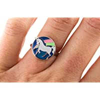 Boxer Gifts BB5262 Unicorn Mood Ring, Silver