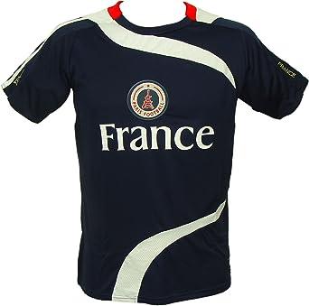 Recuerdos de Francia – Paris camiseta de fútbol para hombre – azul: Amazon.es: Ropa y accesorios